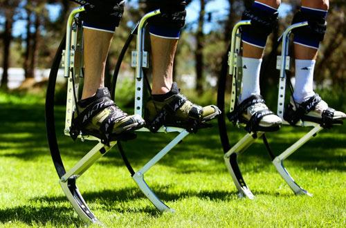 Air-TrekkersPair of Spring Loaded Jumping Stilts