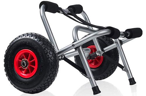 OxGord Kayak Cart Dolly Wheels Trolleyfor Beach Tires Transport