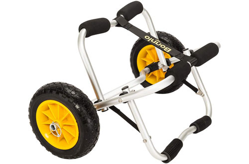 Bonnlo Kayak Cart Carrier Trolley with NO-Flat Airless Tires Wheels