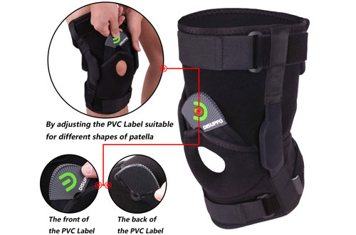 DISUPPO Hinged Patella Knee Brace Support for Meniscus Tears