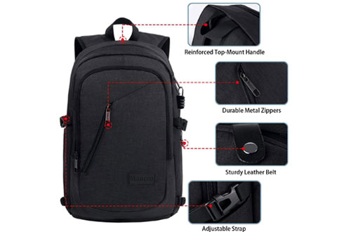 Mancro Anti Theft Business Laptop Backpack for MacBook & School Computer Bag