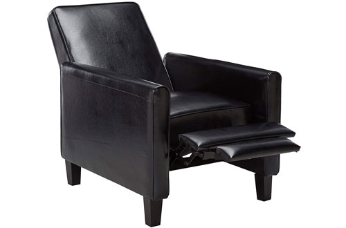 Best Selling Davis Black Leather Recliner Club Chair