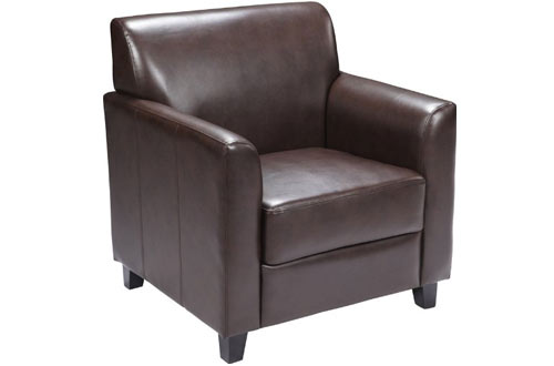 Flash Furniture HERCULES Series Brown Leather Chair