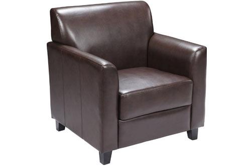 Flash Furniture HERCULES Series Brown Leather Chair