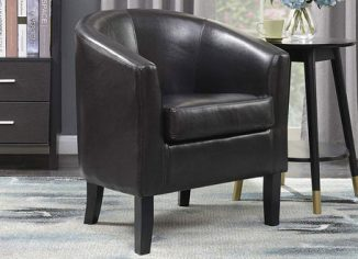 Belleze Modern Faux Leather Club Chair Tub Barrel Style