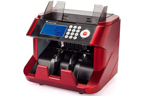 CarnationFast & User-Friendly Money Counting Machine withCounterfeit Detection Functions