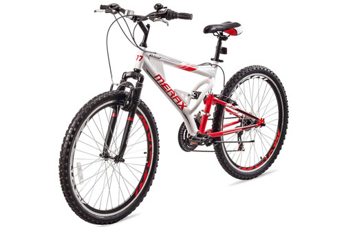 Merax Falcon Full Suspension Mountain Bike with Aluminum Frame Bicycle