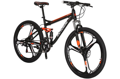 EUROBIKE 21 Speed MTB Wheels Dual Suspension Mountain Bike