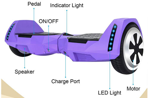 CXM Bluetooth Enabled Self Balancing Hoverboard with Wireless Speake