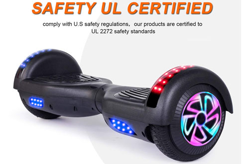 EPCTEK 6.5-Inch Hoverboard/Two-Wheel Self Balancing Scooter with LED Light