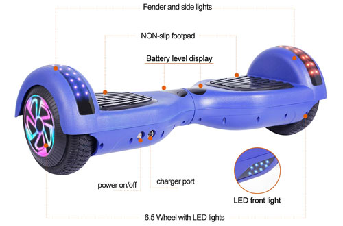 Felimoda Hoverboard - Self Balancing Scooter Electric Scooter Dual Motors