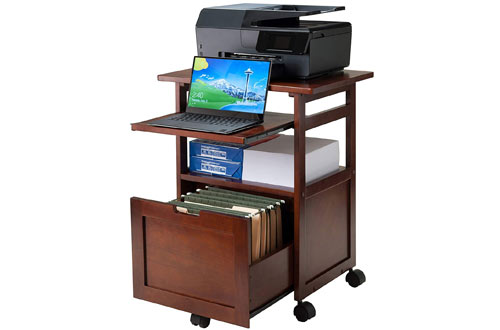 Winsome Wood Piper Work Cart & Printer Stand with Key Board