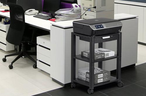 Halter LZ-308 Black Rolling Printer Cart StandHolding Up To 75 Pounds
