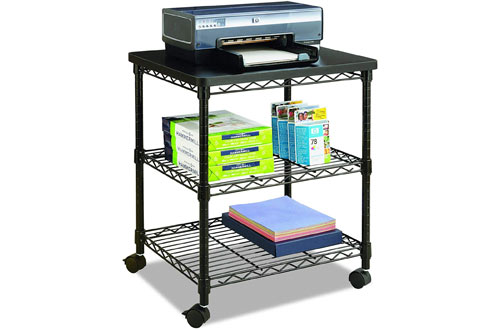 Safco5207BLDeskside Wire Machine Stand Holding up to 200 lbs