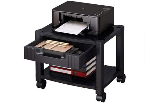 HUANUO Small Printer Standwith Storage Drawers