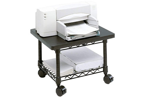 Safco Under-Desk Printer Stand and Fax Stand with Swivel Wheels for Mobility