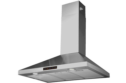 Kitchen Bath Collection STL75-LED Stainless Steel Kitchen Range Hood with LED Lights