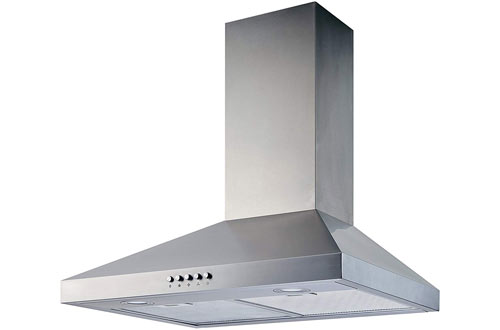 Winflo 30-Inch Convertible Wall-Mount Range Hood with Mesh filter