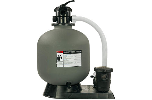 Rx Clear Radiant Sand Filter System for Above Ground Swimming Pool