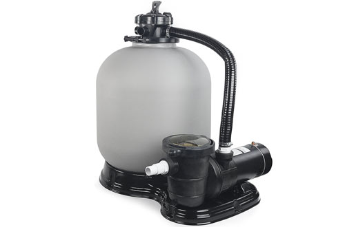 XtremepowerUS Sand Filter with Above Ground Swimming Pool Pump