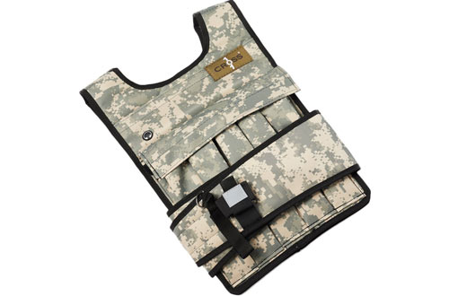 RUNmax Cross101 Camouflage Weighted Vest with Shoulder Pads