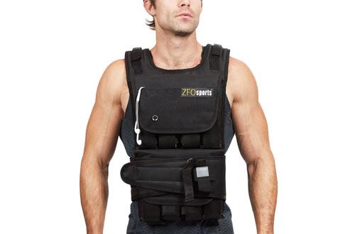 ZFO Sports40lbs/60lbs/80lbs AdjustableWeighted Vest