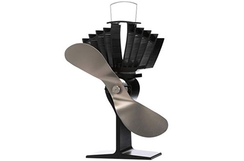 Ecofan 812AMKBX AirMax Large Heat Powered Wood Stove Fan