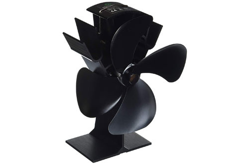 Home-Complete Heat Powered Stove Fan for Wood Burning Stoves