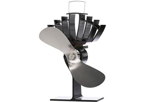Ecofan 810CAKBX UltrAir Mid-Size Heat Powered Wood Stove Fan