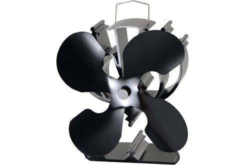 VODA Heat Powered Stove Fan for Wood, Log Burner and Fireplace