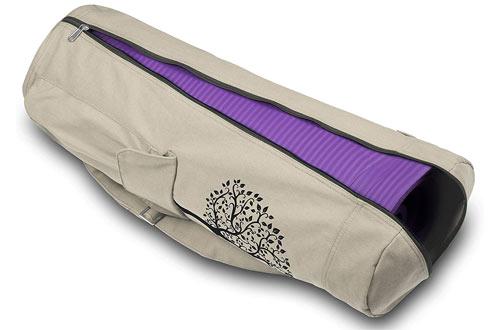 GoYoga Full Zip Exercise Yoga Mat Bag with Multi-Functional Storage Pockets