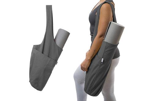 YogiiiYoga Mat Tote Sling Carrier with Side Pocket & Zipper Pocket