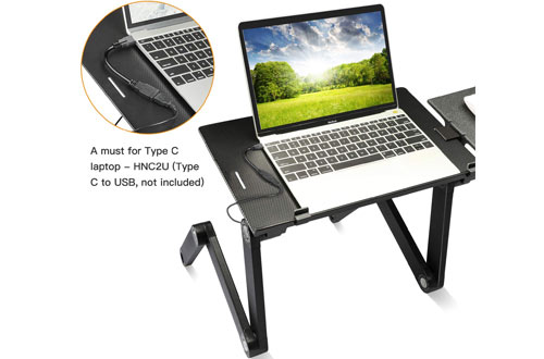 HUANUO Portable Laptop Stand for Bed & Sofa with Cooling Fans