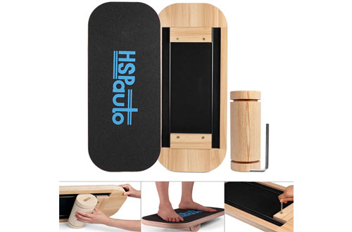 HSPauto Wood Balance Board with Special Orbit Design & Wood Standing Desk