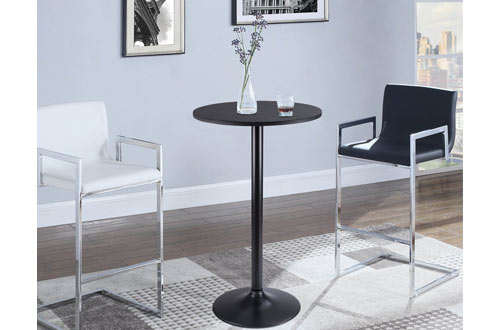 Furmax Bistro Pub Table / Round Bar Height Cocktail Table Metal Base