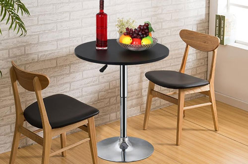 Topeakmart Round Pub Bar Height Table