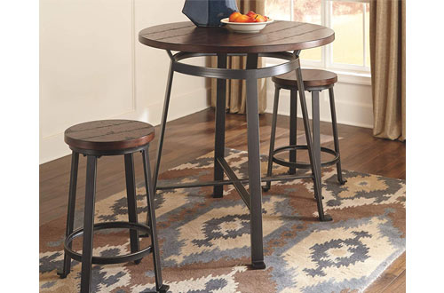 Ashley Challiman Counter Round Dining Room Bar Table