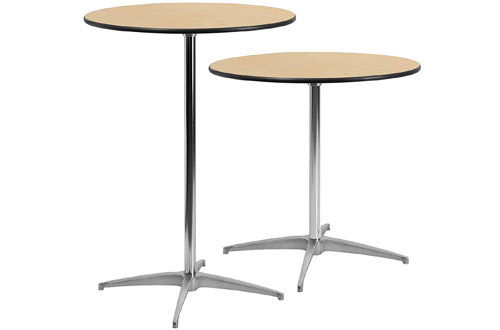 Flash Furniture 30-Inch Round Wood Cocktail Table