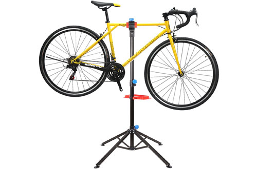 MVPower Pro Mechanic Bike Repair Stand with Tool Tray, Telescopic Arm Cycle
