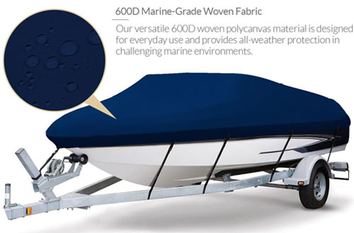 Seamander Trailerable Runabout Full-size Boat Cover Fit V-Hull Tri-Hull Fishing Ski Bass Boats
