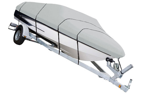 AmazonBasics Boat Cover for V-Hull Runabouts & Bass Boats