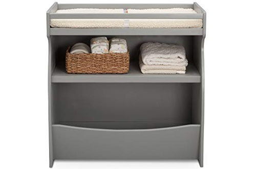 Delta Children 2-in-1 Grey Changing Table and Storage Unit