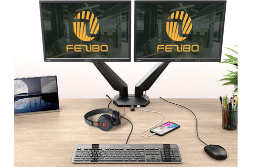 """Fezibo Dual Monitor Standfor 17"""" to 29"""" LCD Computer Screens"""
