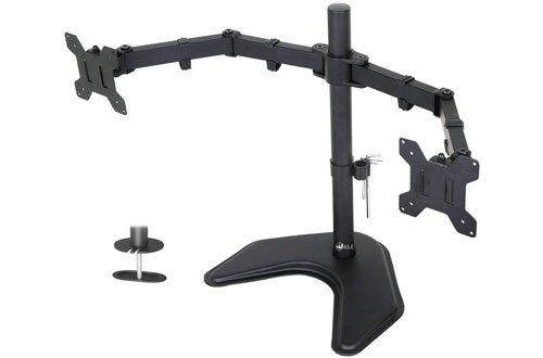 WALI Free Standing Dual Fully Adjustable Desk Mount