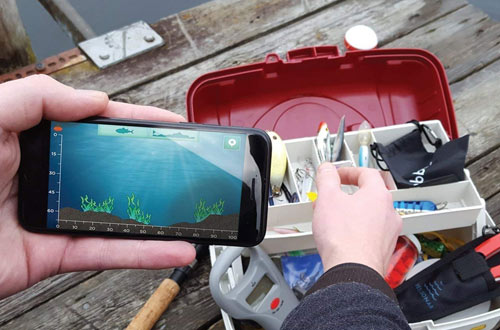 ReelSonar Wireless Bluetooth Smart Fish Finderfor iOS and Android devices