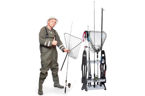 Wealers 16 Fishing Rod Holder Storage Rack Fishing Pole Stand Garage Organizer