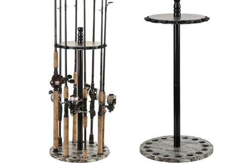 Organized Fishing Round Floor Rod Rack
