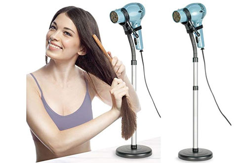 BodyHealt Stand Up Hair Dryer Stand Holder with Heavy Non-Tipping Base