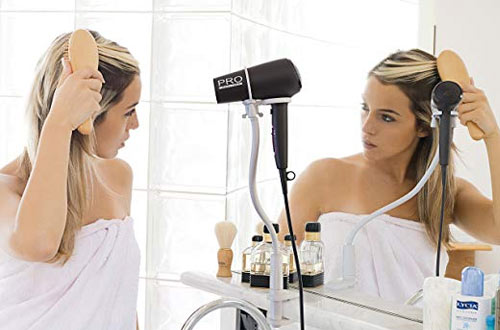 Skywin Hands-Free Hair Dryer Stand - Clamp Mount Hair Dryer Holder