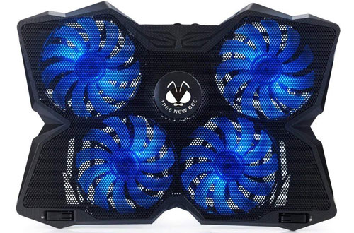 PS4 - Blue 5 Fans Support 11 to 19 Inches Laptops Wind Laptop Cooling Pad